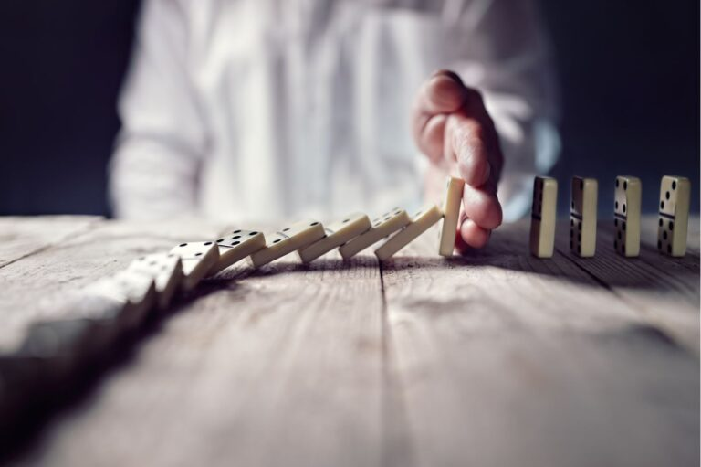 handing stopping domino effect